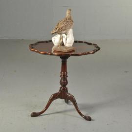 Antieke bijzettafels / Wijntafels / Engelse ronde mahonie tilttoptable ca. 1860 (No.511586)