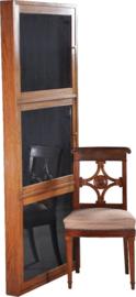 Antiek Varia /  drie-deurs Hang-vitrinekast ca. 1920, eikenhout slecht 10 cm diep (No.950562)