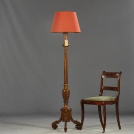 Antiek varia / verlichting / staande lamp / houten schemerlampvoet verguld periode 1910 - 1920 (No640462)