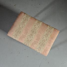 Antiek varia / Frans mahonie bankje ca. 1920 op vier strakke sabelpootjes gestoffeerde zitting  (No.422063)