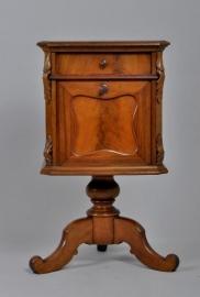 Antiek nachtkastje / Zeer uitzonderlijk Willem III nachtkastje of toch een kleine bar?  ca. 1870 (No86491)