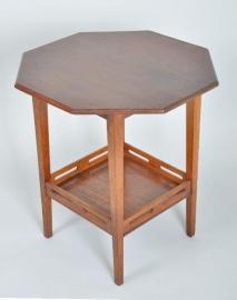 Antieke bijzettafels / 8 kantige tafel, gemerkt Pander ca. 1910 (No.86468)