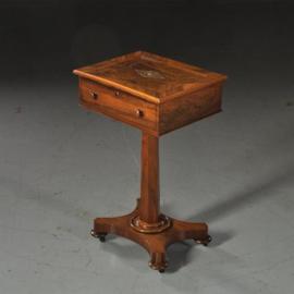 Antieke bijzettafels / latafeltje / wandtafeltje ca. 1850 in palissander met parelmoer inlegwerk (No. 470749)