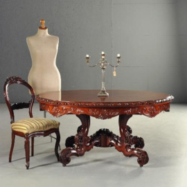Antieke tafels / Horrix coulissentafel met naadloos dekblad tot 6 meter uitschuifbaar (No.110557)