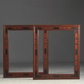 Antiek varia / Stel van 2 identieke antieke houten spiegellijsten / schilderijlijsten ca. 1840 (No-761002)