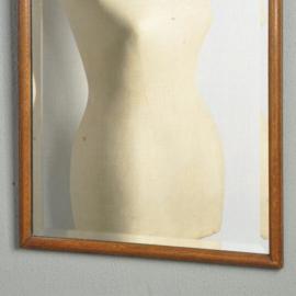 Antieke spiegels / Soester schouwspiegel ca. 18 in90 met bijzonder fraaie geslepen facet (No.310821)