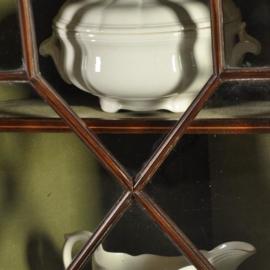 Antieke kasten / Edwardian hoekkast ca. 1915 in mahonie deels met glas (No.431411)