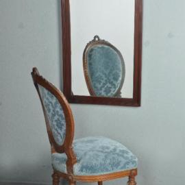 "Antieke spiegels / Mahonie Louis Seize spiegel ca. 1800 ingelegd met satijnhouten  ""zonnetje"" (No.511401)"