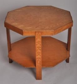 Antieke bijzettafels / Art Deco salontafel ca. 1910 met inlegwerk (No86445)