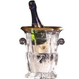 Antiek varia / Champagne koeler in kristal met 24 krt goud midden vorige eeuw (No.542450)