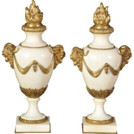 Antiek varia / Stel schouwstukken met afneembare ornamenten ca. 1875 (No.511860)