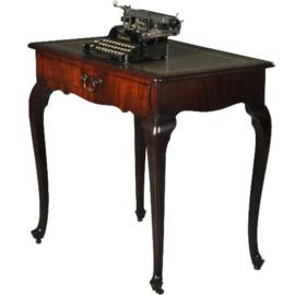 Antieke bijzettafel / wijntafels / Hollandse wandtafel / schrijftafeltje ca. 1800 Mahonie (No.540345)