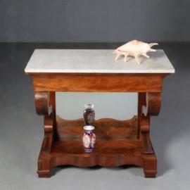 Antieke bijzettafels / Hollandse wandtafel of trumeau met 2 zij-lade  ca. 1840  (No.602121)
