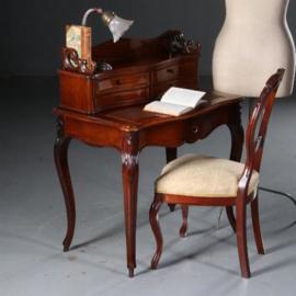 Antieke bureaus / Hollands Willem III damesbureautje ca. 1870 met uittrekbaar schrijfblad (No.552844)