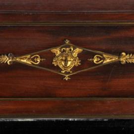 Antieke spiegels / Franse mahonie schouwspiegel ca. 1830 met bronswerk (No.331113)