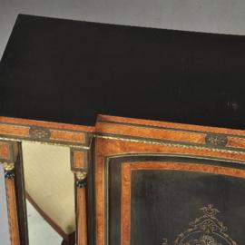 Antieke kasten / Victoriaanse credenza ca. 1870 in ebben- en notenhout en spiegelpanelen (No.450216)
