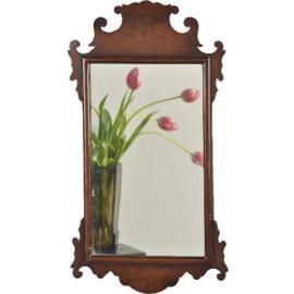 Antieke spiegels / Vroeg Victoriaans mahoniehouten spiegeltje ca. 18 (No.811525)