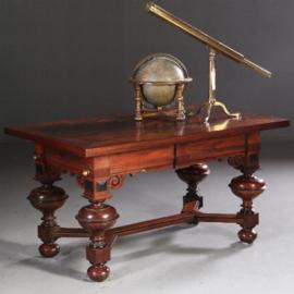 Antieke tafels / Robuuste Palissander bolpoottafel / werktafel neorenaissance ca. 1840 (No.630944)