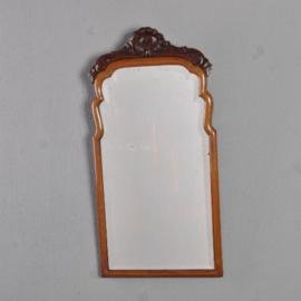 Antieke spiegels / kleine Soesterspiegel ca. 1890 met een zeer breed geslepen facet (No.310726)