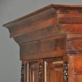 Antieke kasten / Majestueuze palissander Pastoorskast ca. 1690 (No.502857)