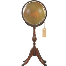 Antieke globes / Aardbol Bibliotheek globe op hoge houten voet (No.123059)