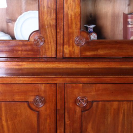 Antieke kasten / Zeer grote Franse 4-deurs bibliotheekkast ca. 1840 in mahonie (No.630949)
