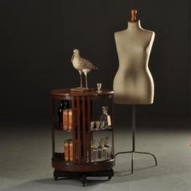 Antieke kasten / Ronde mahonie boekenmolen  ca. 1900 draaibaar en op wieltjes (No.501301)
