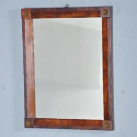 Antieke spiegels / Hollandse spiegel ca. 1810 in strakke mahoniehouten lijst (No.402559)