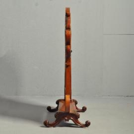 Antieke spiegels / Victoriaanse notenhouten toiletspiegel of kapspiegel ca. 1860 (No-801415)