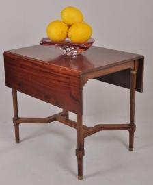 Antieke bijzettafels / Mahonie flappentafel / hangoortafel in empire stijl ca. 1900 (No 86475)
