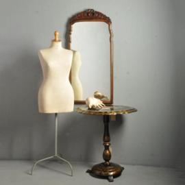 Antieke spiegels / Flink formaat essenhouten Soesterspiegel ca. 1890 met afneembare kroon(No.310822)