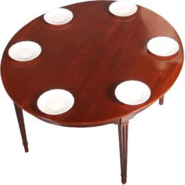 Antieke tafels / Louis Seize / Neo Classicisme eetkamertafel ovaal in mahonie ca. 1795 (No.591037)