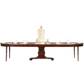 Antieke tafels / Hollandse mahonie coulissentafel  1820 tot max. 14 personen (No.501309)