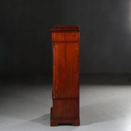 Antieke kasten / Mahonie met bloemmahonie 1-deurskastje / drankenkastje ca. 1840 (No.591034)