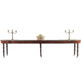 Antieke tafels / Franse coulissentafel ca. 1870 1,35 X 3,67 m. (No.200849)