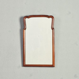 Antieke spiegels / Lief klein Soesterspiegeltje ca. 1790 met heel fijn gestoken kroontje (No.473607)