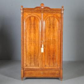 antieke kasten / Mahonie boekenkast / servieskast ca. 1875 met 2 deuren en 1 lade (No.421357)