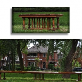 Antieke tafels / Enorme notenhouten Coulissentafel ca. 1870  maar liefst 6,76 m. lang (No911757)