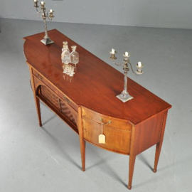 Antieke kasten / Notenhouten sideboard ca. 1900 met geheime jalousie compartiment (No.281104)