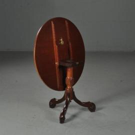 Antieke bijzettafels / Wijntafels / Engelse ronde mahonie tilttoptable ca. 1860 (No.461635)