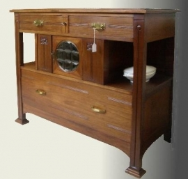 Antiek mahoniehouten dressoir / sideboard 1890-1900 (8352)