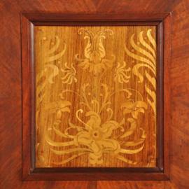 Antieke kasten / Imposant prentenkabinet / notariskast ca. 1890, rijk ingelegd met vlinders en o.a. 14 laden (No.182953)
