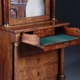 Antieke kasten / Empire bureau / schrijfkabinetje ca. 1810 mahonie Frankrijk (No.562212)