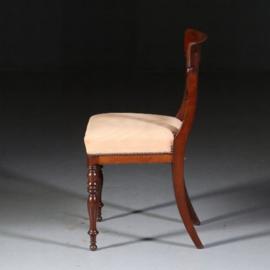 Antieke stoelen / Stel van 18 mahonie stoelen ca. 1930 incl. nieuwe bekleding naar wens (No.542442)