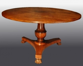 Antieke bijzettafels / Engels mahonie bijzettafel aangepast aan  salontafel hoogte  (No.481703)