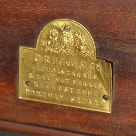 Antieke kasten / Vitrinekast ca. 1880  inlegwerk van bloemen en volgens in noten met veel brons (No.470751)