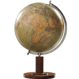 "Antieke globes / Aardbol ""COLUMBUS-ERDGLOBUS"" op strakke houten voet met kompas (No.123058)"