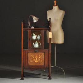 Antieke kasten / kleine arts and crafts vitrinekast / muziekkast ca. 1900 Engeland (No-331119)