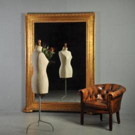 Antieke spiegels / Imposante vergulde schouwspiegel / passpiegel ca.  1800 (No.321921)