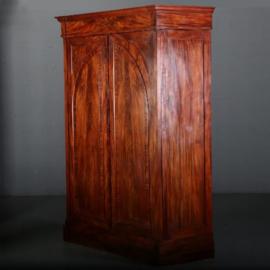 Antieke kasten / Notariskast / Hollandse strakke vroeg biedermeier tweedeurskast ca. 1815 (No.561258)